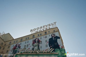 The Hollywood Roosevelt Sign overlooking Hollywood Boulevard