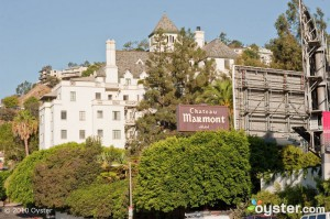 View of Chateau Marmont from Sunset Boulevard