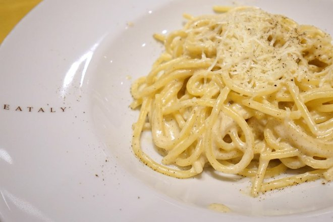 Eataly pasta on MSC Cruises' MSC Divina; Image courtesy of Jason Leppert