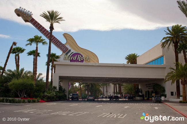 L'entrée emblématique du Hard Rock Hotel and Casino