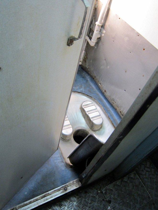 Sneak Peak eines Zug Badezimmers; Bild mit freundlicher Genehmigung von Indi Samarajiva über Flickr.
