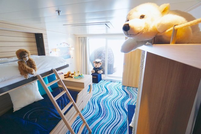 Family Apartment on Hapag-Lloyd Cruises' Europa 2; Photo by Jason Leppert