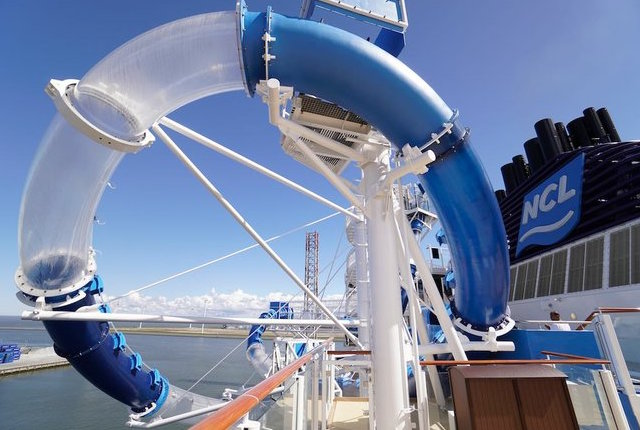 Waterslide on Norwegian Cruise Line's Norwegian Joy; Photo by Jason Leppert