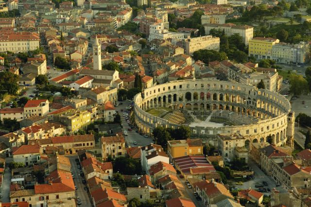 The Roman amphitheater in Pula. Courtesy of Croatian Tourist Office
