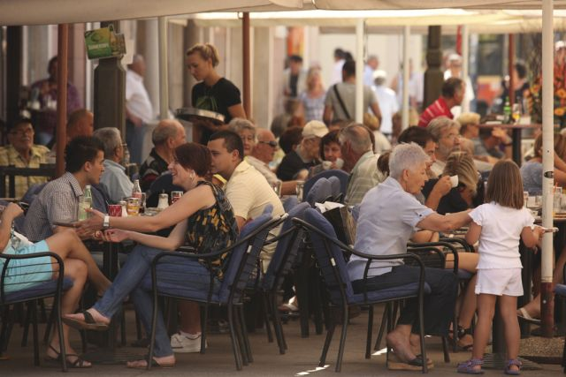 A cafe in Rijeka. Courtesy of Croatian Tourist Office