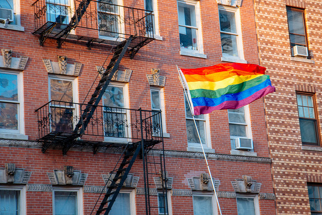 A rainbow flag flies in New York's West Village. mathiaswasik/Flickr
