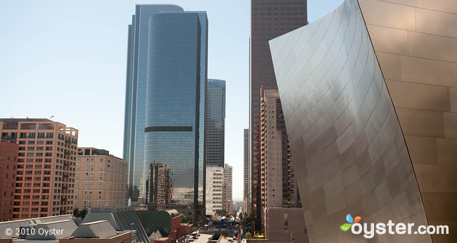 A view of Downtown LA, where the famous Staples Center is located