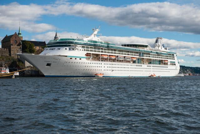 Vista del crucero y fortaleza de Akershus / ostra