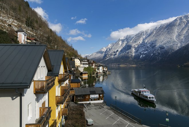 The Double Room with Lake View at the Heritage Hotel Hallstatt/Oyster