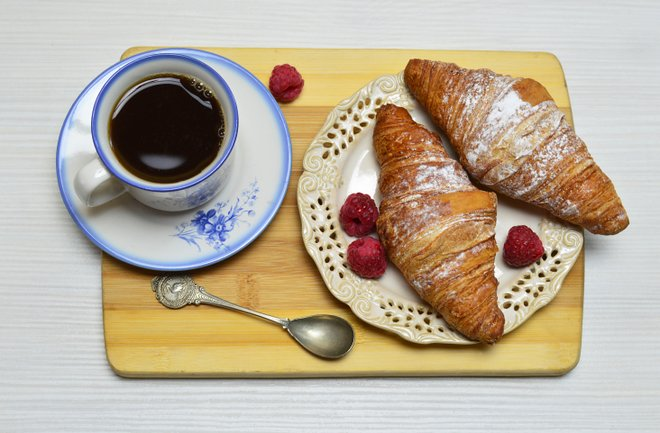 Croissant and Coffee; Photo credit: Flickr/Marco Verch