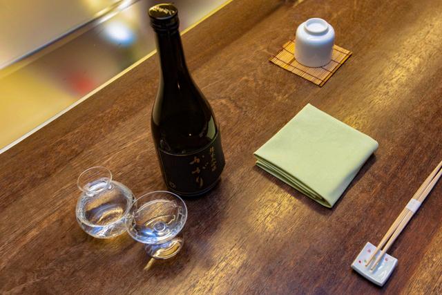 Sake Bar Amanogawa no Keio Plaza Hotel Tóquio / Ostra