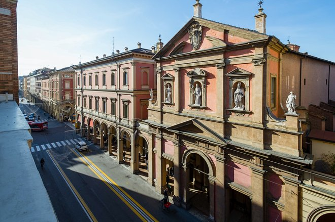 View from the Deluxe Room at I Portici Hotel in Bologna/Oyster