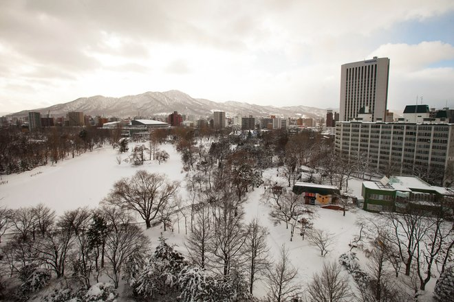 View from Second House Concept Twin Room in the Sapporo Park Hotel/Oyster