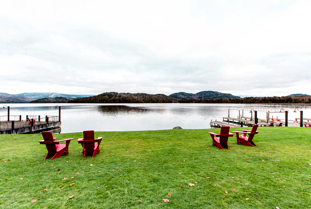 Grounds at the Lake Placid Lodge/Oyster
