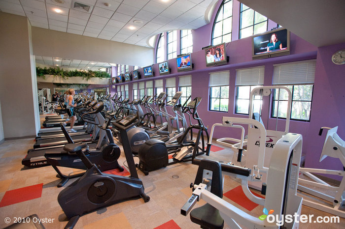 The fitness center at The Hard Rock
