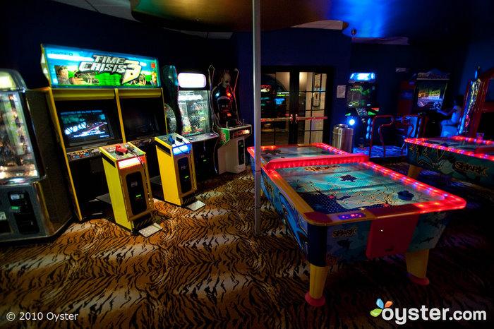 A sala de jogos no Hard Rock