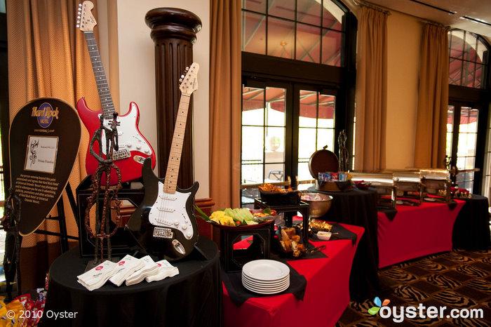 As salas de reuniões no The Hard Rock