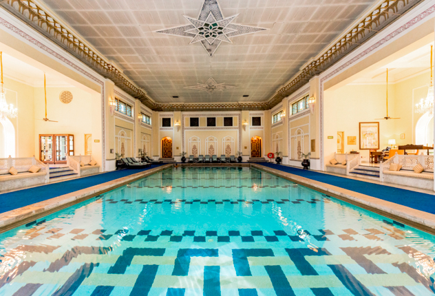 The Indoor Pool at the Rambagh Palace/Oyster