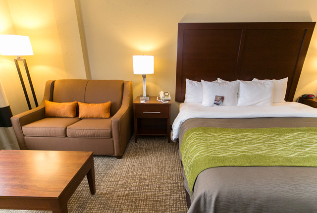 O Quarto King no  Comfort Inn Airport / Oyster