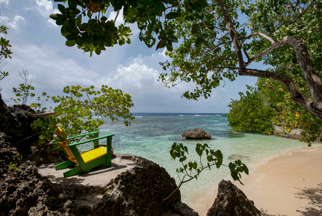 Strand in der Fleming Villa im GoldenEye Hotel & Resort / Oyster