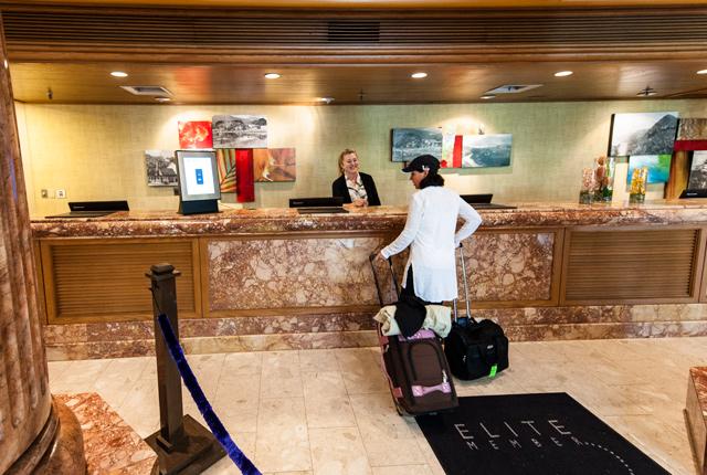 Rezeption im Kauai Marriott Resort / Oyster