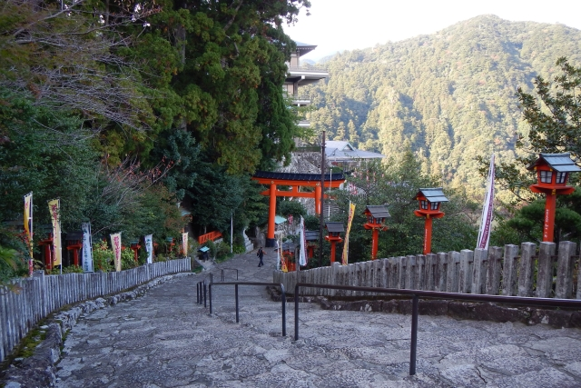 On the Kumano Kodo trail. Nekosuki/Wikimedia Commons