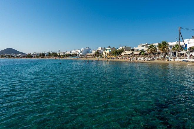 Beach at the Iria Beach Art Hotel, Naxos/Oyster