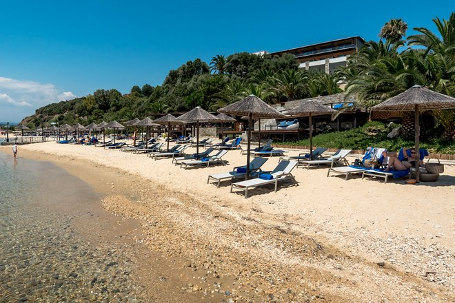 Beach at the Eagles Palace, Halkidiki Region/Oyster