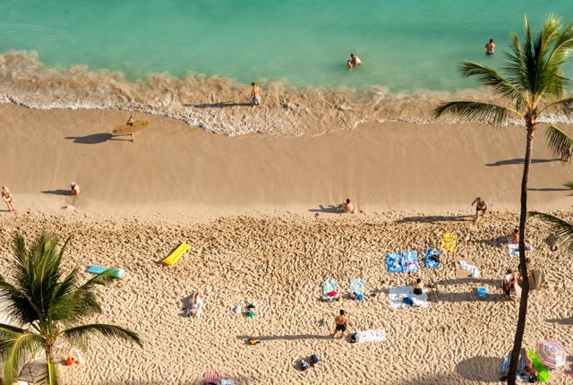 Plage à l'Outrigger Waikiki Beach Resort / Oyster