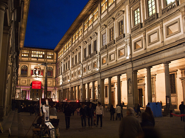 View of Florence's historic Uffizi Gallery. Kevin Poh/Flickr