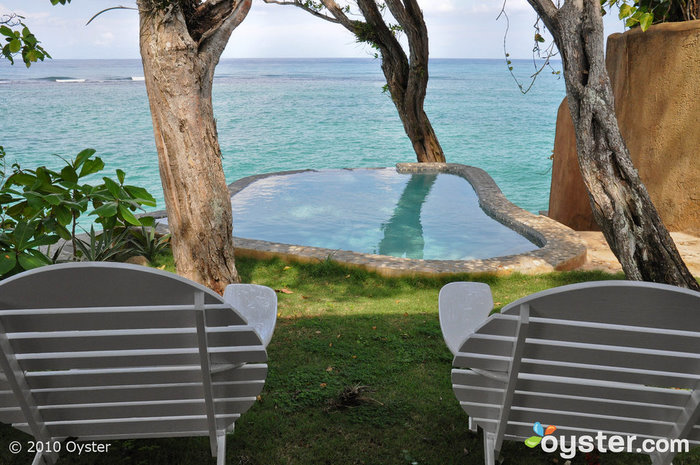 Private Pool at the One Bedroom Cottage at the Jamaica Inn