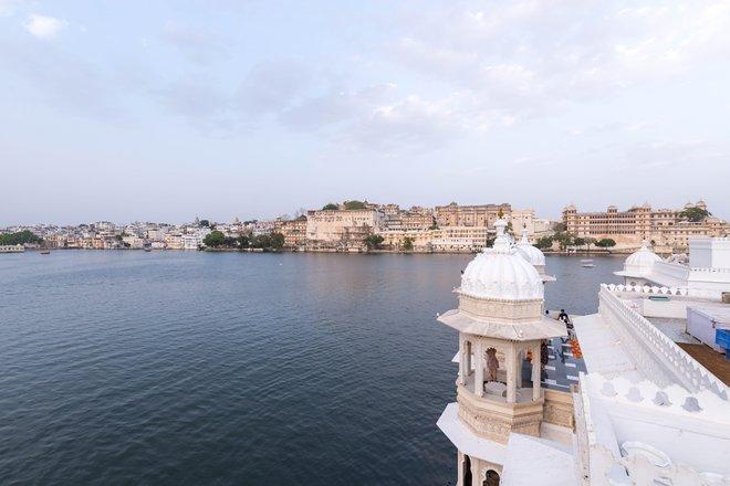 Vue sur le palais du lac Taj Udaipur / Oyster