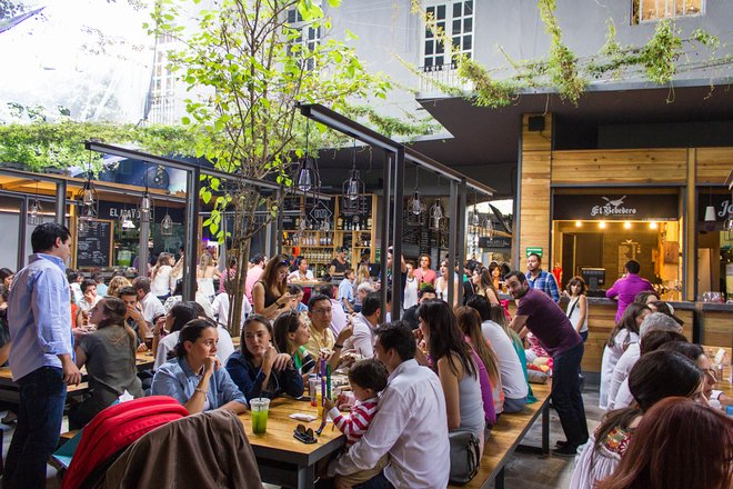 Food halls and swanky restaurants pack Roma and Condesa, in Delegacion Cuauhtemoc/Oyster