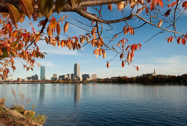 Vista, de, a, rio charles, boston / ostra