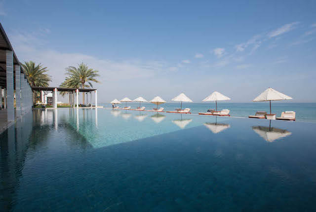 Pool at The Chedi Muscat – a GHM Hotel in Muscat, Oman/Oyster