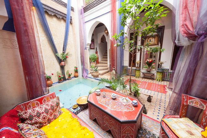 Riad Tamarrakecht in Marrakesch, Marokko / Auster
