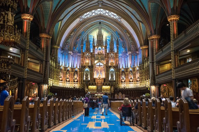Basilique Notre-Dame von Montreal / Auster