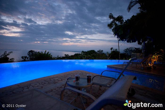 The beautiful infinity pool at Hotel La Mariposa in Manuel Antonio, Costa Rica