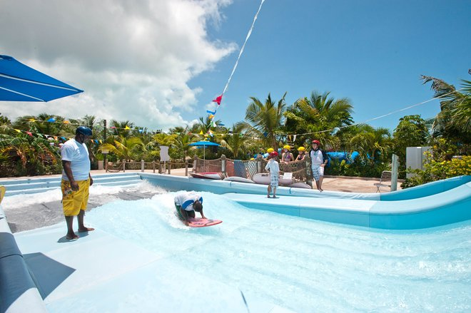 Parc aquatique Pirate Island sur les plages Turks and Caicos Resort Villages and Spa / Oyster