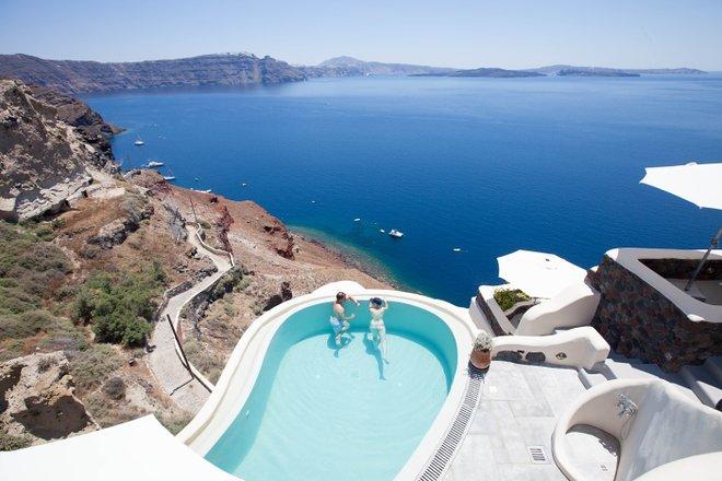 Pool bei Pezoules , Santorini / Oyster