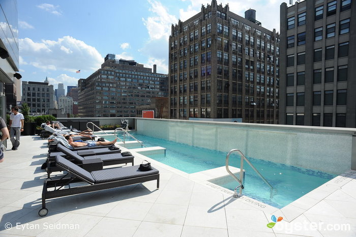 7th-floor Balcony Pool at the Trump SoHo