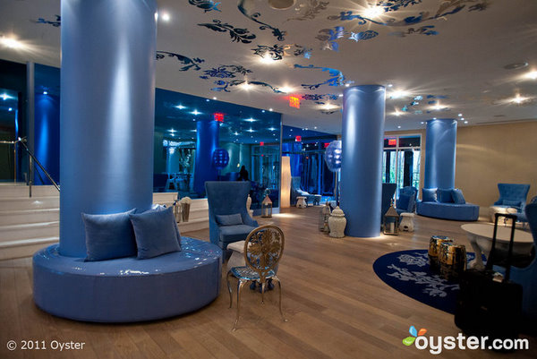 Lobby at the Mondrian SoHo