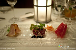 The tuna sampler at Orchids, The Halukelani