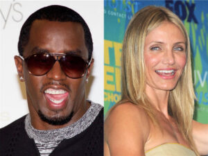Cameron and Diddy were spotted making out at the trendy PH-D nightclub this December. PHOTO by: Erik Jordan/startraksphoto.com (left). PHOTO by: KYLE ROVER/startraksphoto.com (right).