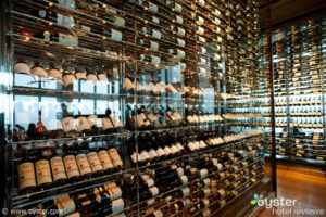 Wine selection at Asiate, Mandarin Oriental NY