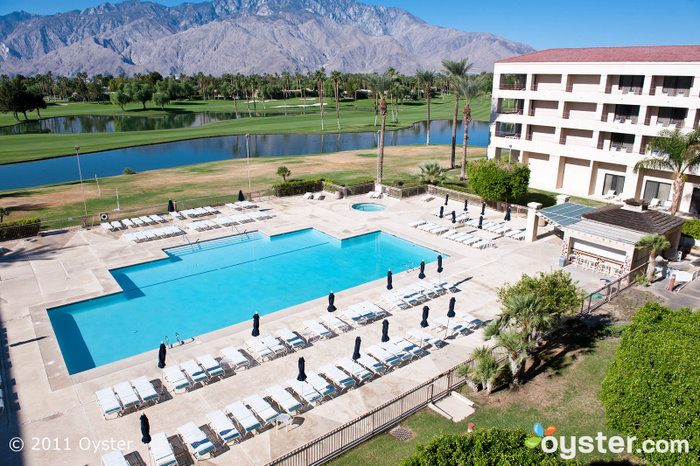 Pool and golf course at the Doral Desert Princess Resort