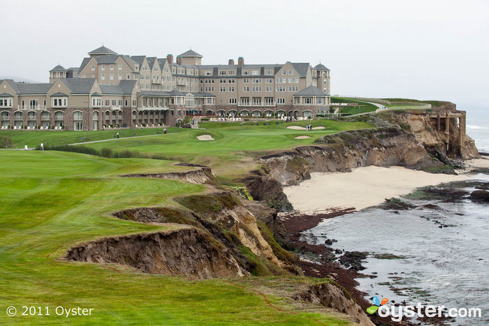 O campo de golfe no The Ritz-Carlton, Half Moon Bay