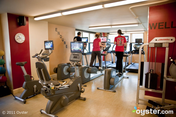 The fitness center at the Affinia Dumont; New York, NY