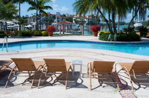The scenic Market Pool at the Fisher Island Hotel
