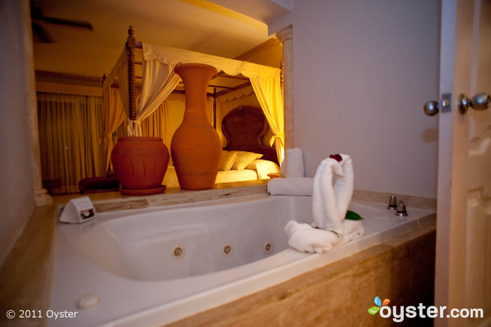 Bathroom of the Excellence Suite at the Excellence Hotel; Punta Cana, Dominican Republic